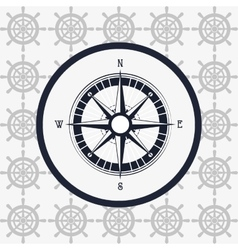 compass nautical emblem image vector image