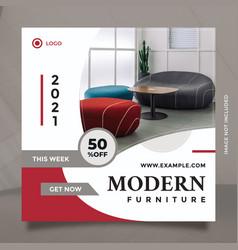 Creative idea modern furniture promotion design vector