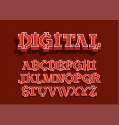 crypto - electronic coin style font vector image