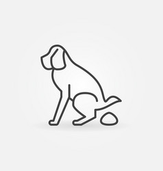 Dog pooping icon vector