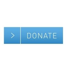 Donate button icon vector