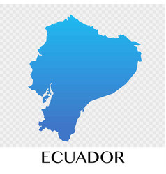 Ecuador map in south america continent design vector