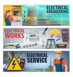 Electrical engineering electricity work tools vector