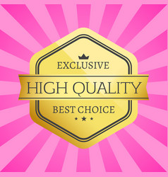 exclusive high quality best choice golden label vector image vector image