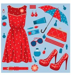 fashion set vector image