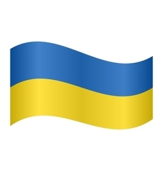 Flag of Ukraine waving vector image