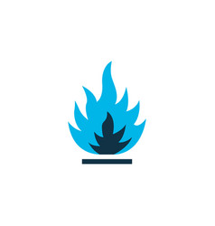 Flammable icon colored symbol premium quality vector