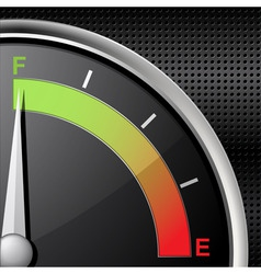 Full fuel gauge vector
