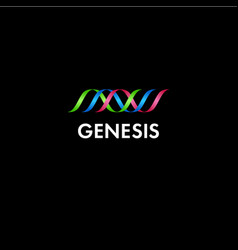 Genesis or genetics logo vector
