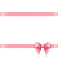 Gift card with pink bow and place for text vector