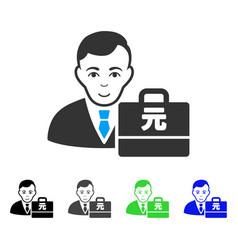 Glad yuan renminbi accounter icon vector