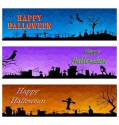 Happy halloween header vector