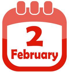 Icon february 2 calendar vector