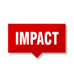 Impact red tag vector