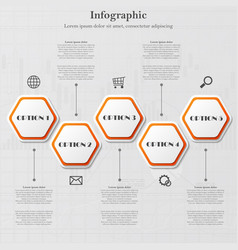 Infographic with polygonal figures vector