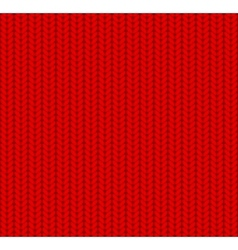 Knitted Seamless Pattern Red vector image