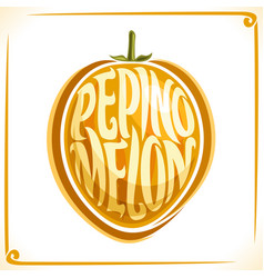 logo for pepino melon vector image