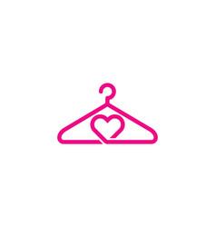 Love laundry logo icon design vector