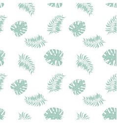 monstera palm tropical jungle leaf seamless vector image