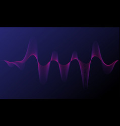 Music neon background illuminated digital wave vector