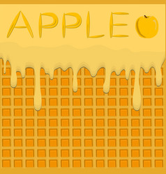 On theme falling runny apples drip at sugary vector