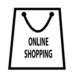 online shopping icon isolated on transparent vector image