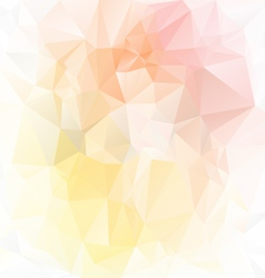 Pastel yellow orange polygonal triangular pattern vector