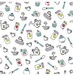 Pattern of kitchen utensils design elements vector