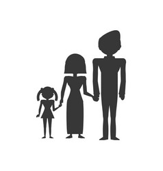 Pictogram family love members vector