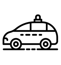 police car icon outline style vector image