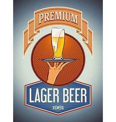 Premium lager beer vector image