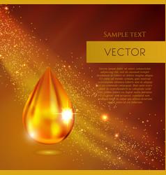 Realistic oil or honey drop vector