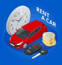 renting a new or used car vector image
