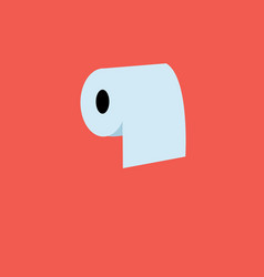 roll toilet paper white vector image