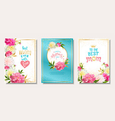 set cards mothers day vector image