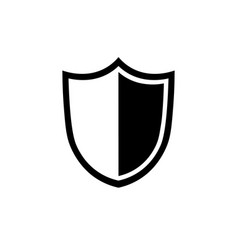 shield icon in flat style security symbol vector image