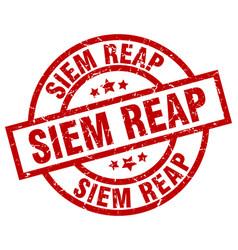 Siem reap red round grunge stamp vector