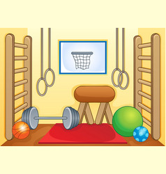 Sport and gym theme image 1 vector