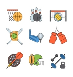 Sport icons set vector
