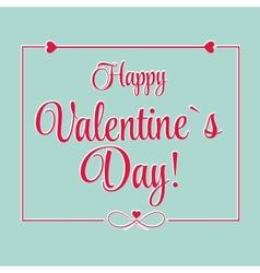 St Valentine days greeting card vector