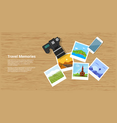 travel memories banner vector image