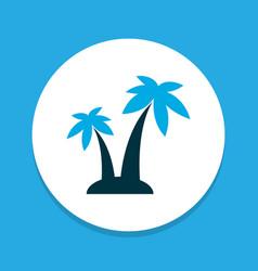 trees icon colored symbol premium quality vector image