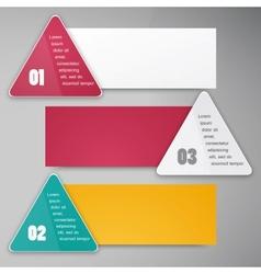 trianguljar banner 2 100913 vector image