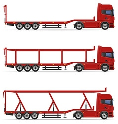 Truck semi trailer 18 vector