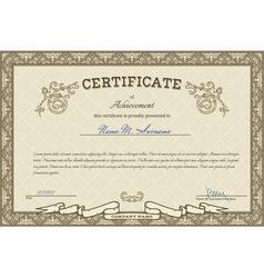Vintage diploma vector image