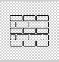 Wall brick icon in flat style isolated on vector