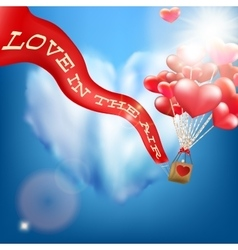 Wedding invitation with balloon eps 10 vector