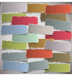 background with torn paper banners vector image