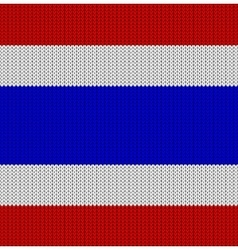Knitted flag of Thailand vector image