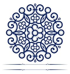 round lace ornate background in vector image